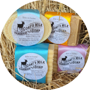 All-Natural Goat Milk Soap (Candy Cane)